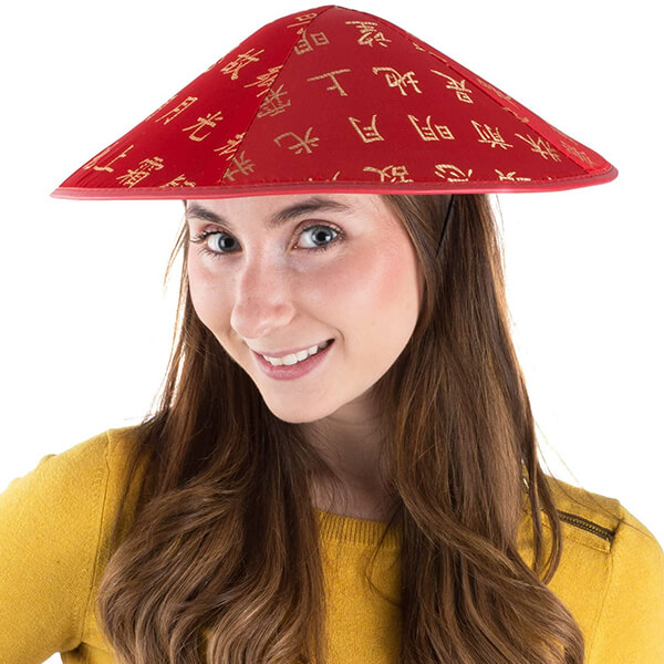 Exclusive Red Asian Costume Hat
