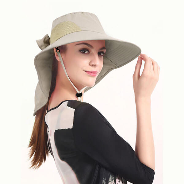 Waterproof Foldable Sun Hat with Neck Flap