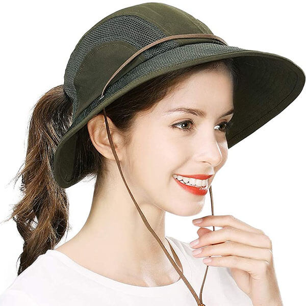 Light-Weight Summer Hat with Ponytail Hole