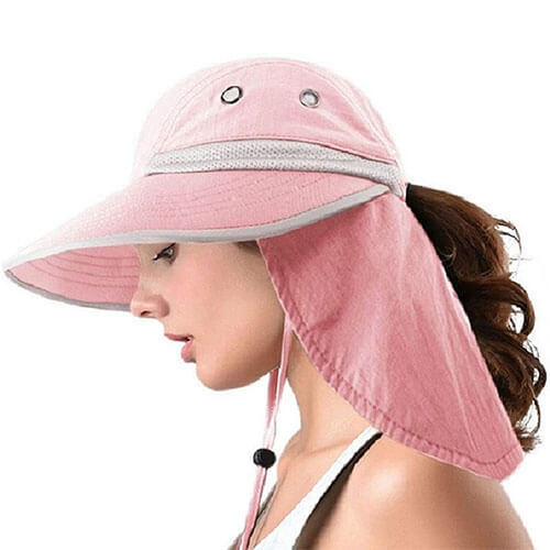 UPF50+ Protection Pink Bucket Hat
