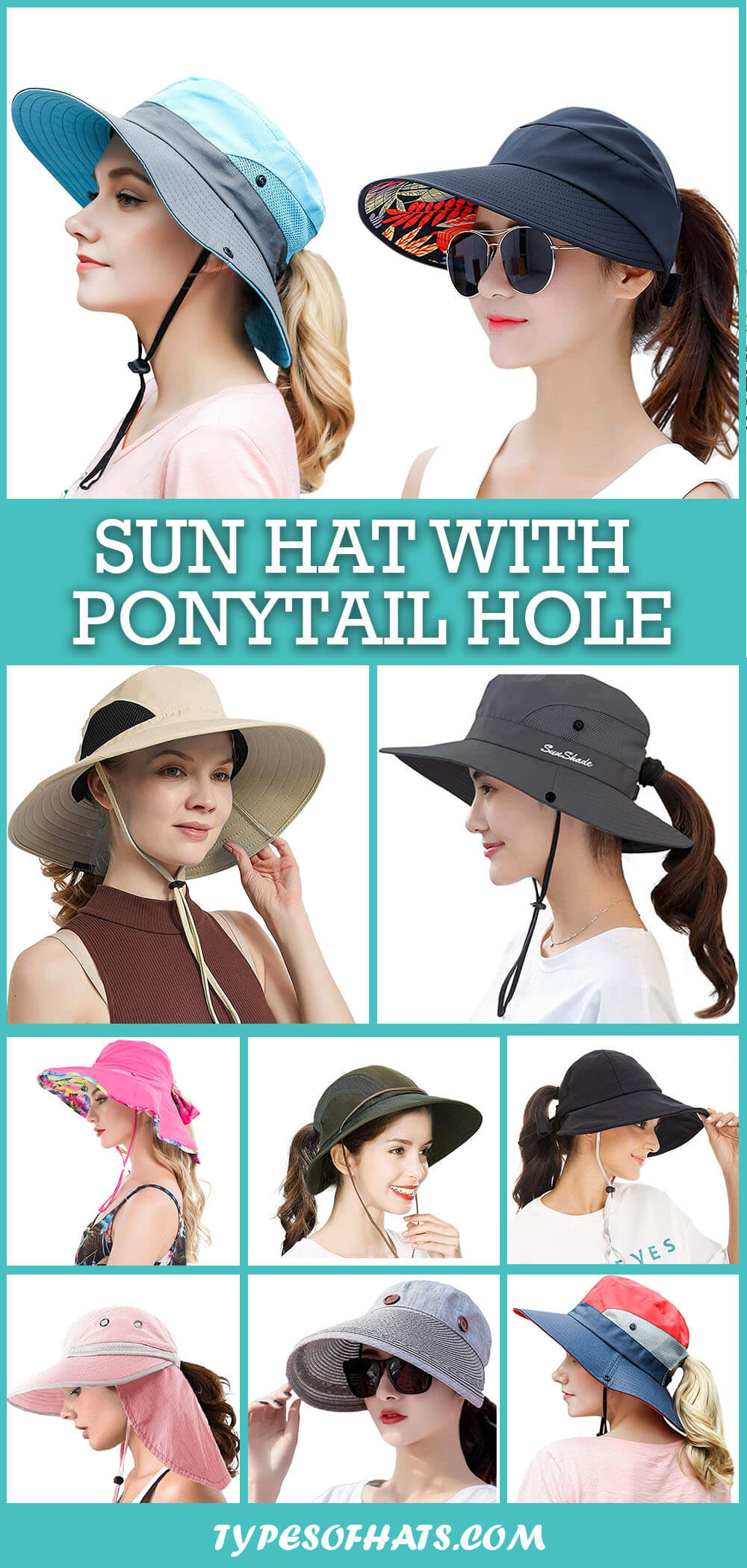 Sun-Hat-With-Ponytail-Hole