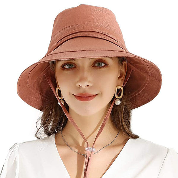 Bucket Sun Hat With large Brim for Women