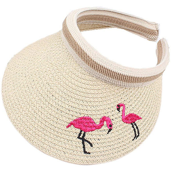 Open Top Cap Style Straw Sun Hat For Kids