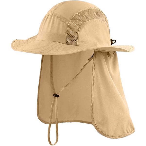 Men's UV Sun Hat With Neck Flap