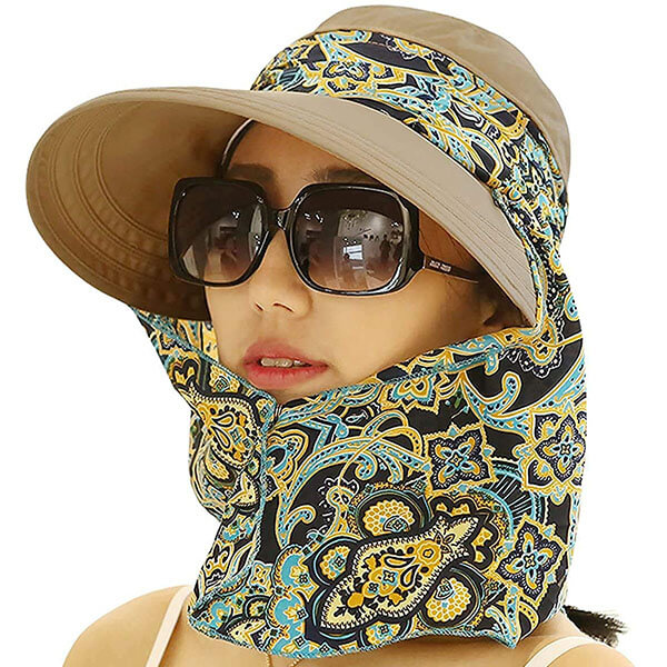 Roll UP Brim Hat with Neck Protector