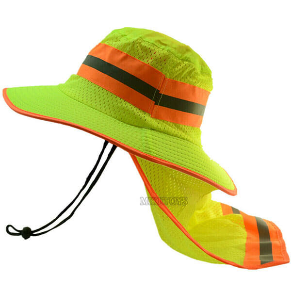 Sun Safe Bucket Hat With Neck Flap For Men