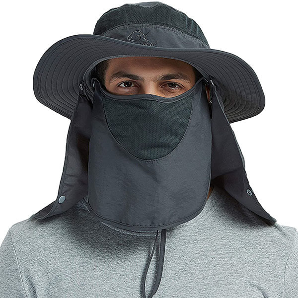 Sun Hat For Men With Neck Flap And Face Cover