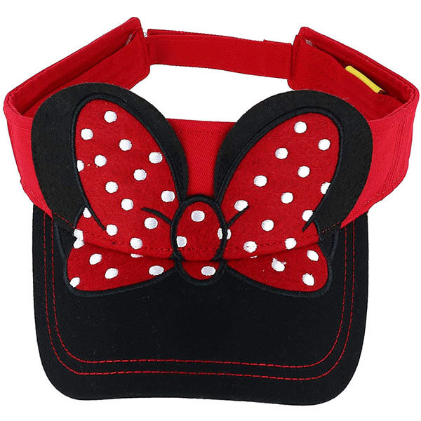 Minnie Mouse Visor Hat with 3D Ears