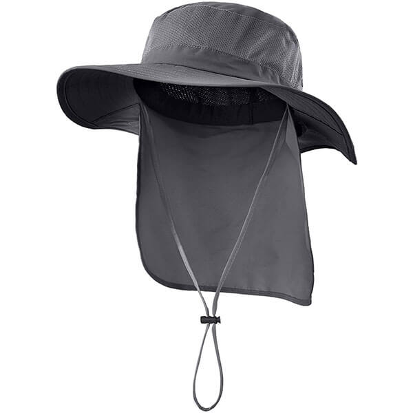 Wide Brim Fishing Hat With Neck Flap