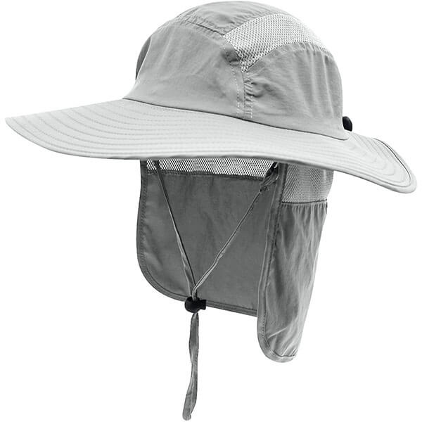Men's Sun Hat With Wide Brim And Neck Flap