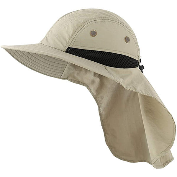 Mesh Sun Hat With Neck Protection For Men