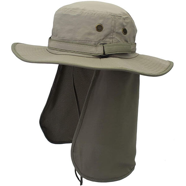 Quick Dry Sun Hat With Neck Flap