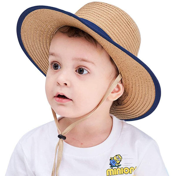 Boater Style Foldable Sun Protection Hat For Kids