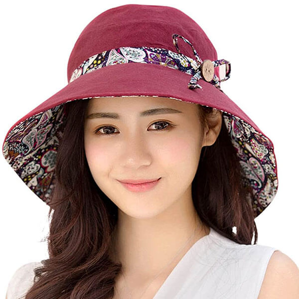Women's Foldable Beach Hat With Wide Brim