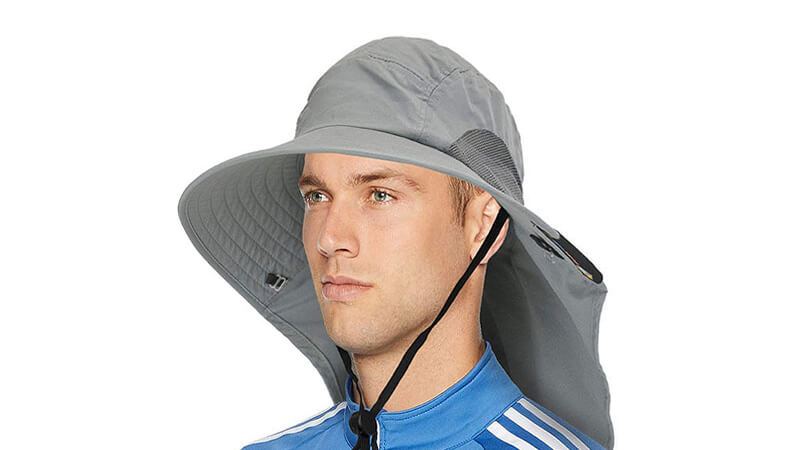Men's Sun Hat With Neck Flap