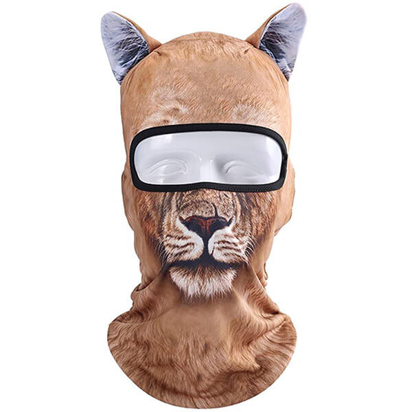 3D Animal Patterned Balaclava and Neck Gaiter