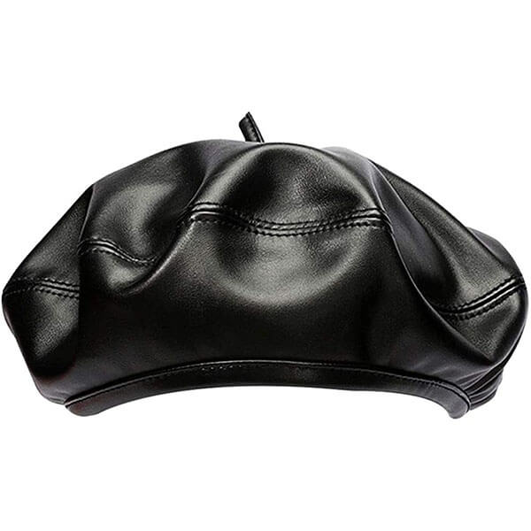 Leather Beret (PU, FAUX)