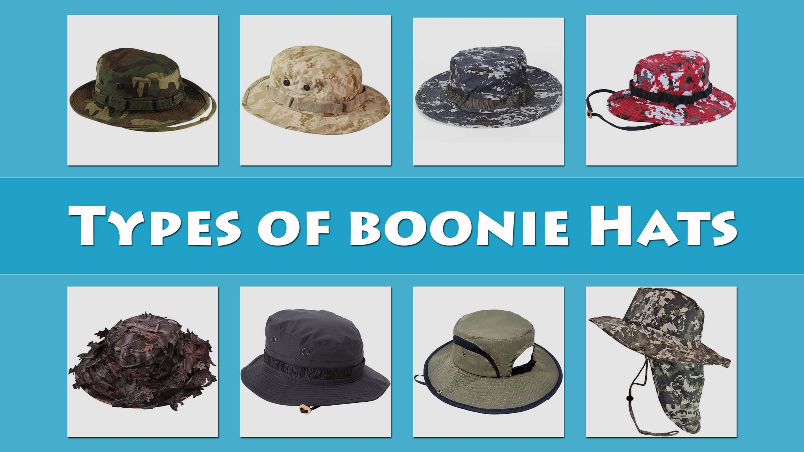 Types Of Boonie Hats