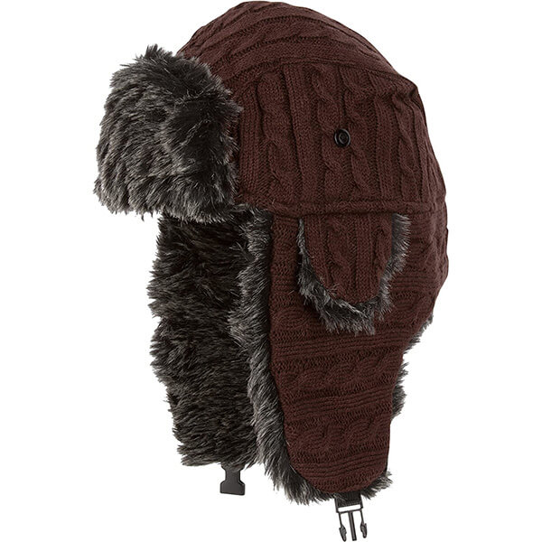Chocolate iconic trapper hat for all