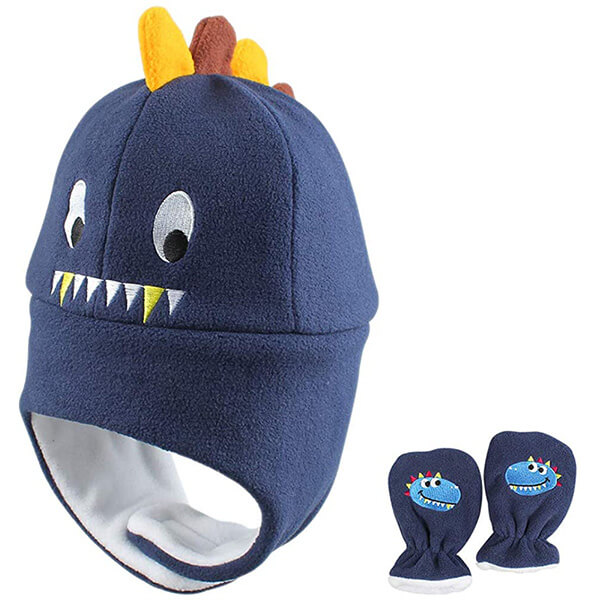 Freaky monster trapper hat with mittens under 9
