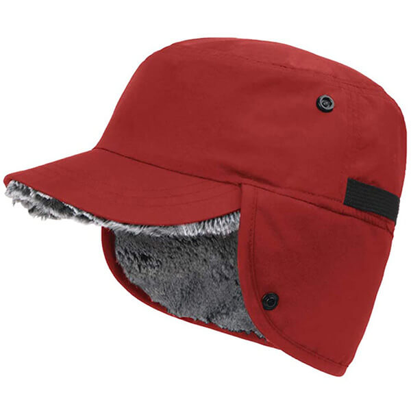 Baseball red trapper hat
