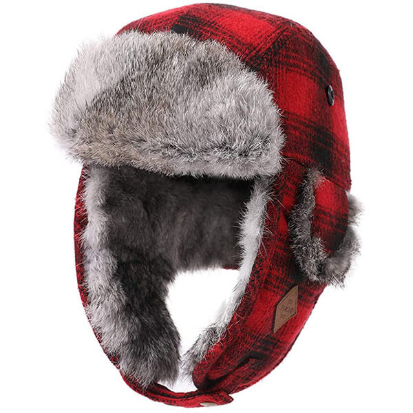 Timeless style buffalo plaid trapper for everyone
