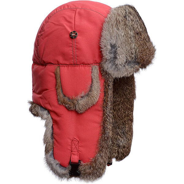 Persian red real fur trapper hat for unisex