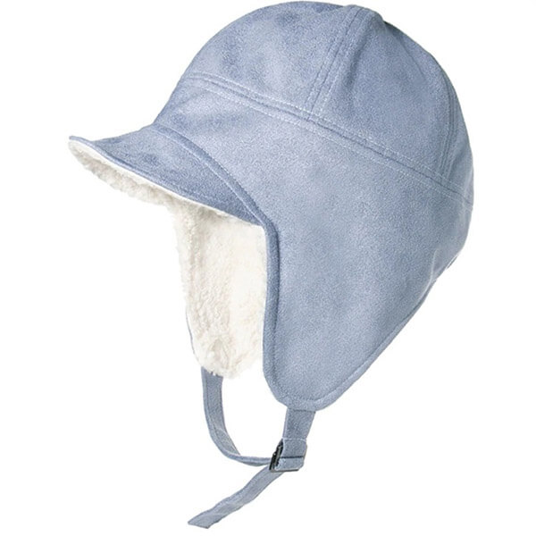 Cotton breathable, hypoallergenic trapper hat with a brim