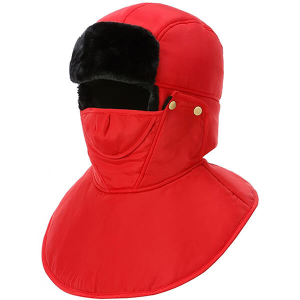 Hunting red trapper hat