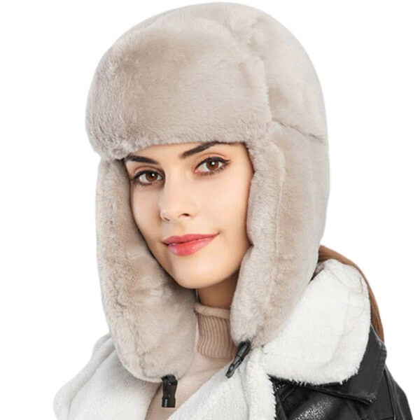 Toasty fluffy plush trapper hat for all