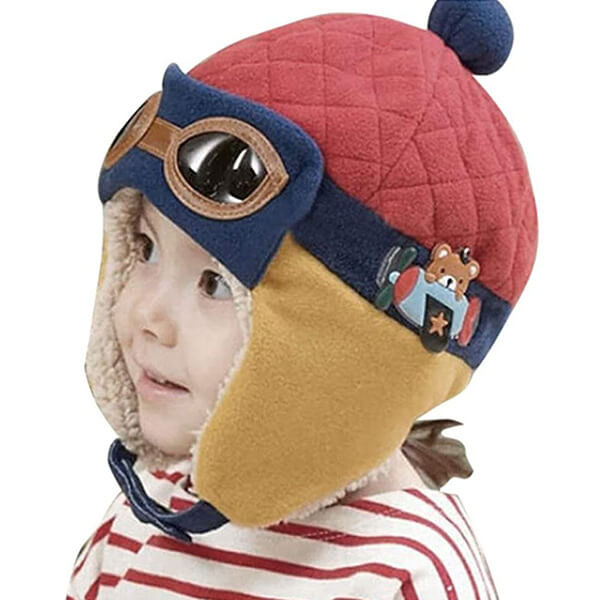The warm bear trapper hat for your baby boy