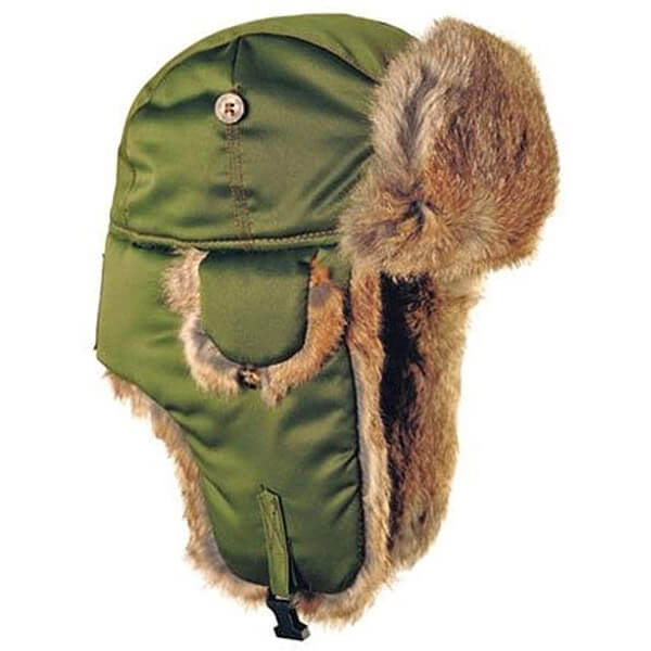 Earthy olive green trapper hats for everything