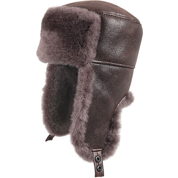 Cashmere shearling trapper hat for unisex