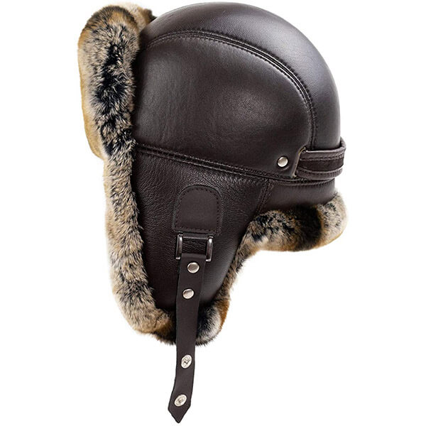 Sturdy, durable trapper hat for bikers and motorists