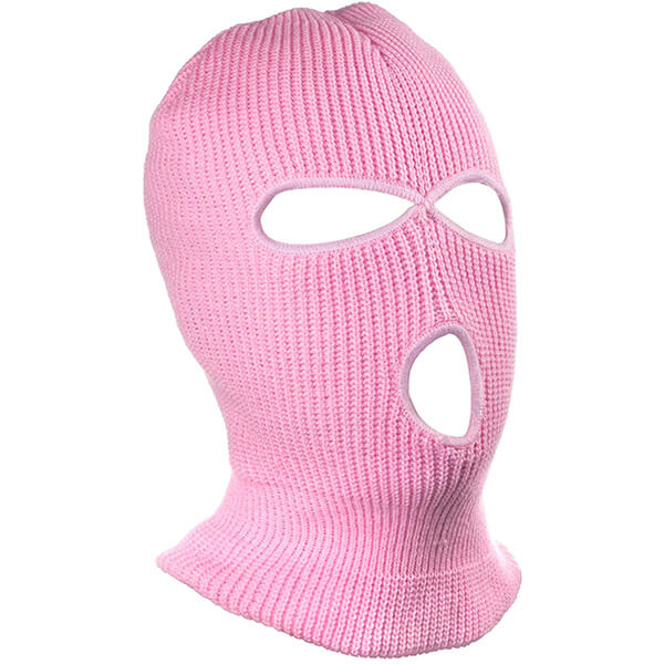 Pastel Colored Knitted Winter Balaclava