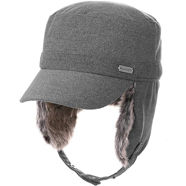 Tall broad-brimmed trapper for adults and teens