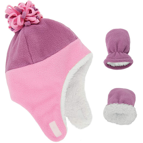 Adorable pink trapper hats for newborn