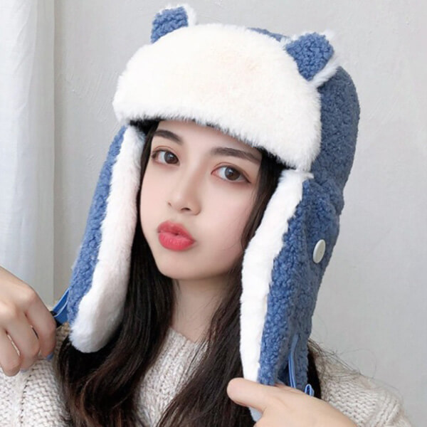 Kitty trapper hat for your loved one