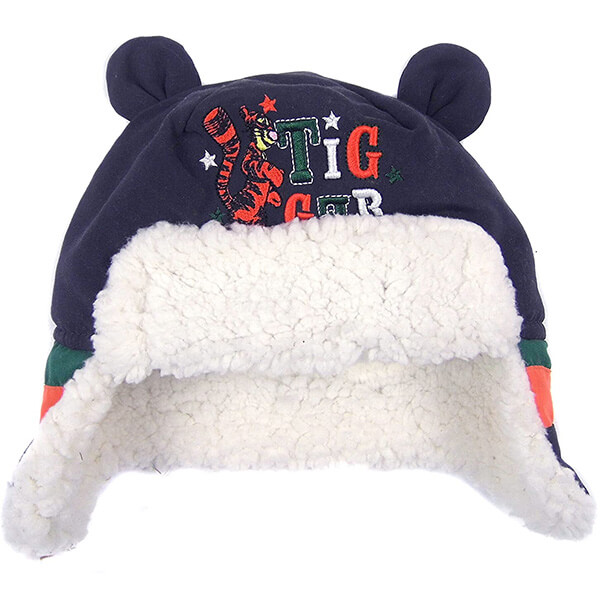 Left loose earflaps trapper hats for mild temperatures