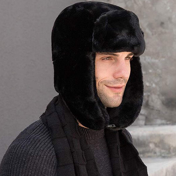Soft to touch trapper hat for winter sports