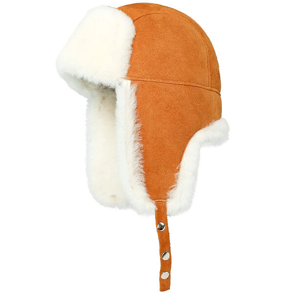 Warm colored tan trapper hat for all sizes
