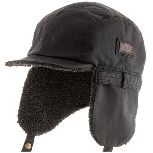 Weathered cotton breathable, hypoallergenic trapper hat