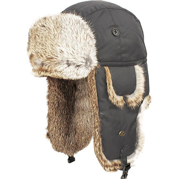 Authentic Russian touch fur trapper hat