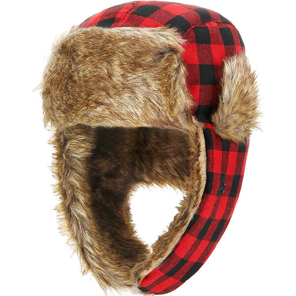 Buffalo plaid trapper to top the outfit