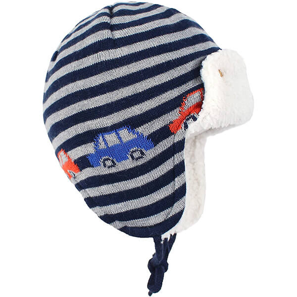No sweat breathable 100% cotton trapper hats for baby boy