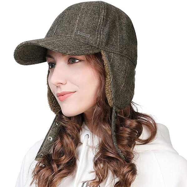 Sweat free baseball cap trapper with earflaps