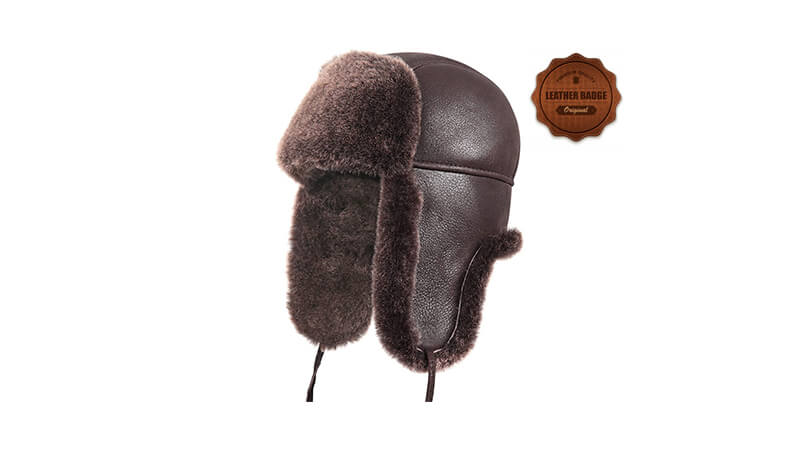 Leather Trapper Hats