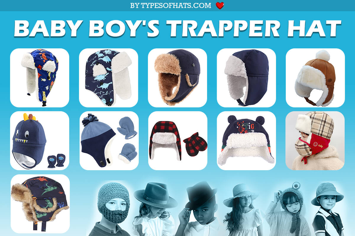 baby boys trapper hats