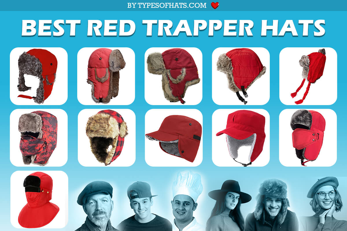 red trapper hats