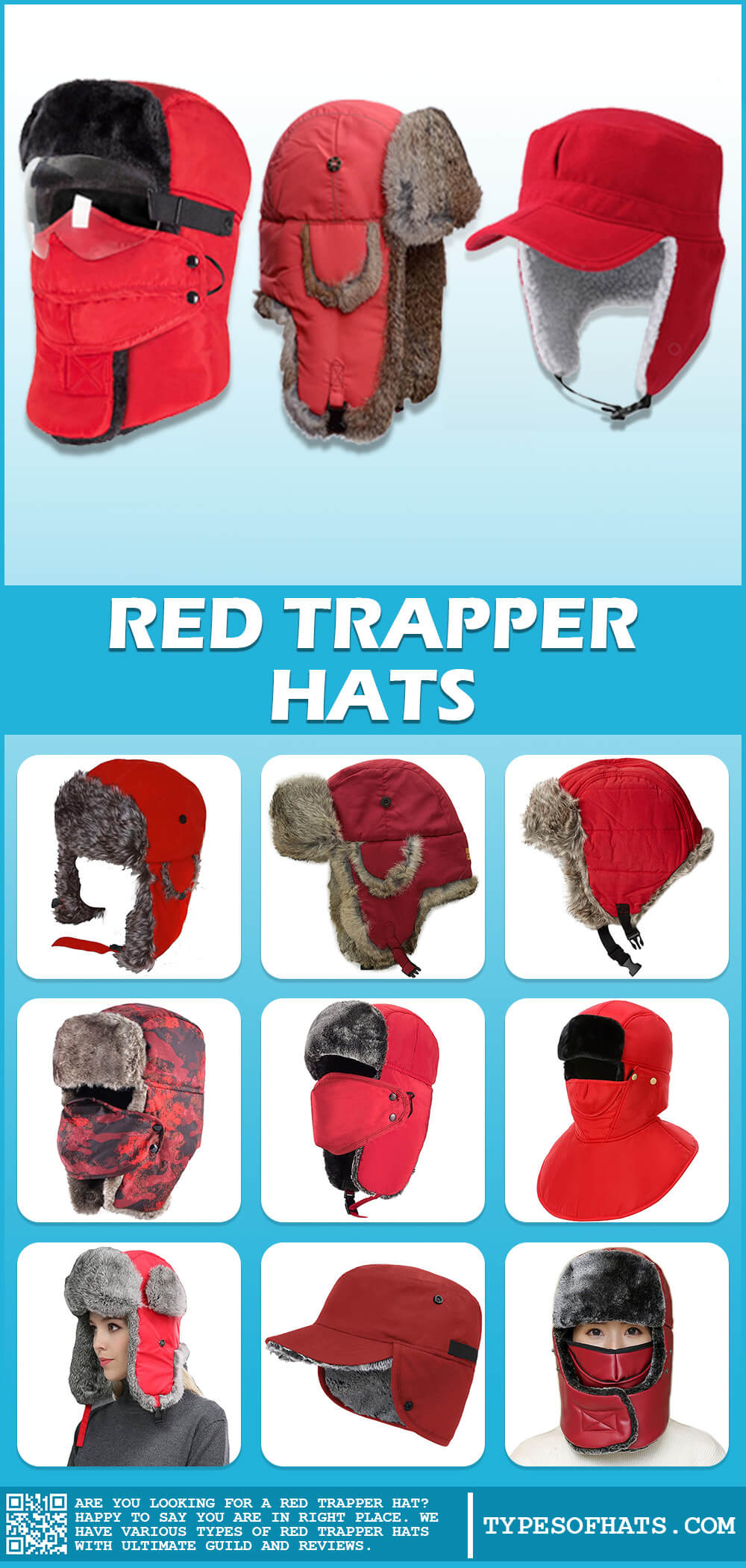 trapper hat red